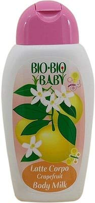 PILOGEN - Bio-Bio Baby - Grapefruit Body Milk for Babies - Flower Scent - Rapid Absorption - Ideal for massage - Dermatologically Tested - ICEA Certified - 250 ml
