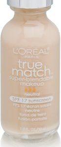 L'Oreal Paris Makeup True Match Super-Blendable Liquid Foundation, Soft Ivory N1, 1 fl. oz.