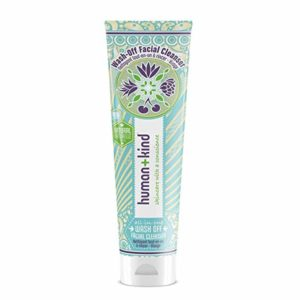 Human+Kind Wash-Off Facial Cleanser | All-in-One Formula Cleans, Removes Make-Up, and Exfoliates | Includes a Super-Soft Deep-Cleansing Cloth | Natural, Vegan Skin Care | 3.3 fl oz