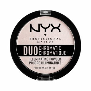 NYX PROFESSIONAL MAKEUP Duo Chromatic Illuminating Powder, Snow Rose, 0.21 Ounce