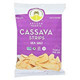 Artisan Tropic Cassava Strips - Your Tasty and Healthy Snack Alternative - Paleo, Gluten Free, Vegan, Non-GMO - Made With Sustainable Palm Oil (Sea Salt, 4.5 oz|12 pack)
