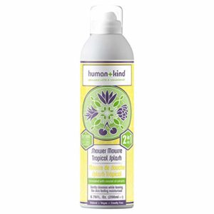 Human+Kind Shower Mousse   Lather and Cleanse Skin with Puffs of Fluffy Foam   Nourishes Dry Skin with Coconut Oil   Natural, Vegan Skin Care   Coconut Dream - 6.76 fl oz