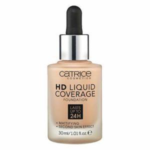 Catrice HD Liquid Foundation (020 Rose Beige)- High & Natural Coverage, Vegan