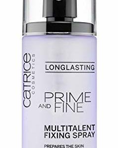 Catrice Prime & Fine Multitalent Fixing Spray - Transparent Fast-Drying Fixing Spray, Vegan