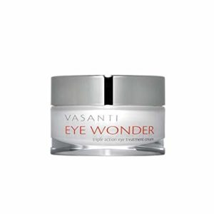 EYE WONDER by VASANTI - Triple Action Paraben-Free Eye Treatment Cream Clinically Proven Peptides & Botanicals - Helps with Dark Circles, Wrinkles, Puffiness (20mL)