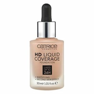 Catrice HD Liquid Foundation (040 Warm Beige) - High & Natural Coverage, Vegan