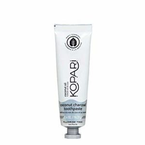Kopari Coconut Charcoal Toothpaste- Activated Charcoal and Organic Coconut Oil Natural Whitening Toothpaste, Vegan, Fluoride Free, Sulfate Free, Gluten Free, Black Tooth Paste