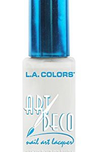 L.A. Colors Art Deco Nail Art 901 White
