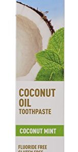 Desert Essence Tea Tree Oil Toothpaste - Coconut Mint - 6.25 Oz - Refreshing Taste - Complete Oral Care - Baking Soda - Sea Salt - Pure Essential Oil - Fights Against Sugar Acids - Zinc Citrate