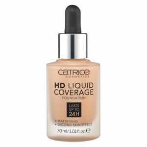 Catrice HD Liquid Foundation (032 Nude Beige)- High & Natural Coverage, Vegan