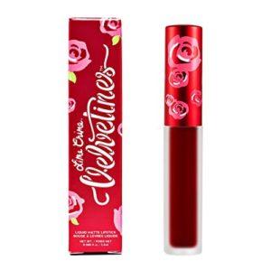 Lime Crime Velvetine FEELINS. Long Lasting DEEPEST TRUE RED Liquid Matte Lipstick (0.088 fl oz / 2.6ml)