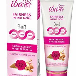 Iba Halal Care Fairness Instant Facial (3in1 Mask Scrub Facial Wash), 100g