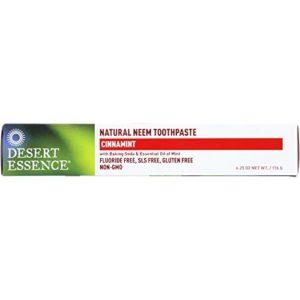 Desert Essence Toothpaste - Natural Neem - Cinnamint - 6.25 oz - Gluten Free-Dairy Free -