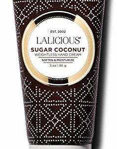LALICIOUS Sugar Coconut Weightless Hand Cream - Hand & Cuticle Moisturizer with Mango Butter (3 Ounces)