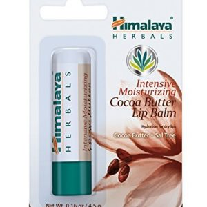 Himalaya Intensive Moisturizing Cocoa Butter Lip Balm, Free from Petroleum and Artificial Color 0.16oz/4.5gm (4 PACK)