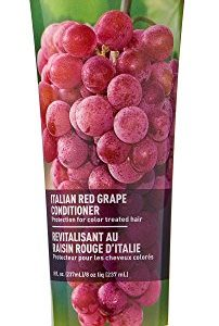 Desert Essence Italian Red Grape Conditioner - 8 Fl Oz - Protection For Color Treated Hair - Moisturizes - Smooth & Silky - Vitamin B5 - Grape Seed Extract - Antioxidant With Resveratrol
