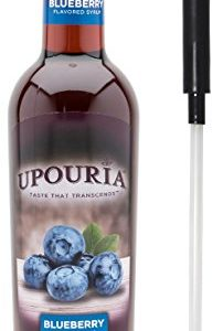 Upouria Blueberry Flavored Syrup, 100% Vegan and Gluten-Free, 750ml bottle - Pump included