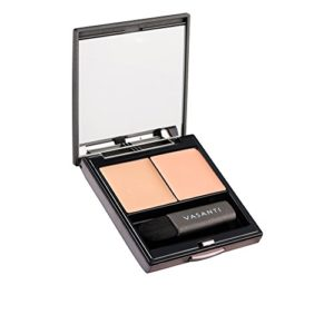 Wonders of the World Concealer Duo by VASANTI - Hide Dark Circles, Scars - Colour Correcting Full Coverage Concealer Duo - Includes a Colour Corrector and Concealer with Mirror & Mini Brush (A2-Peach)