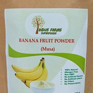 100% Pure Banana Fruit Powder (8 oz), Eco-friendly pouch, Air tight & Resealable, No Artificial Flavors or Preservatives or Fillers, Vegan-Friendly