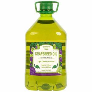 Grape Seed Oil, 3 Liter by Unpretentious Baker, 100% Pure, Vegan, Kosher, Gluten Free, Non-GMO, Odorless, Light Taste, Preservative & Cholesterol Free, Sturdy Plastic Jug with Twist Off Cap