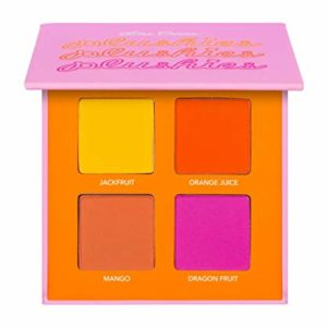 Lime Crime Plushies Pressed Pigment Eyeshadow Quad Makeup Palette (Fresh Squeezed)