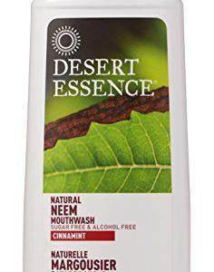 Desert Essence Natural Neem Mouthwash - Cinnamint Flavor - 16 Fl Oz - Reduce Plaque Buildup - Tea Tree Oil - Neem Leaf Extract - Peppermint - Complete Oral Care - Refreshes Breath - Aloe
