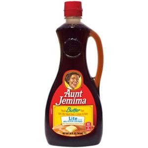 Aunt Jemima Butter Lite Syrup, 24 oz Bottle