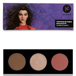 SUGAR Cosmetics Contour De Force Face Palette 01 Subtle Summit, 12 g