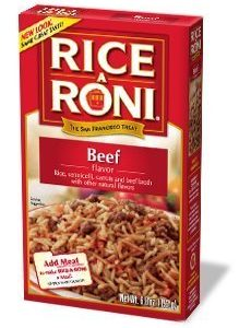 Rice A Roni, Beef Flavored Rice, 6.8oz (Pack of 6)