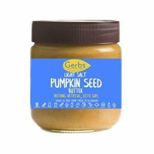 Light Salt Pumpkin Seed Butter by Gerbs, 14oz. Jar - Top 14 food allergy free - Non-gmo, vegan & Keto Safe