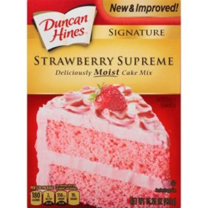 Duncan Hines Signature Cake Mix, Strawberry Supreme, 15.25 Ounce