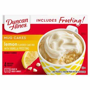 Duncan Hines Mug Cakes, Lemon Cake and Frosting