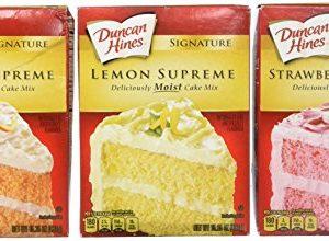 Duncan Hines Signature Cake Mix Bundle - Strawberry Supreme, Orange Supreme, Lemon Supreme 16.5oz (Pack of 3 Boxes) by Duncan Hines Signature