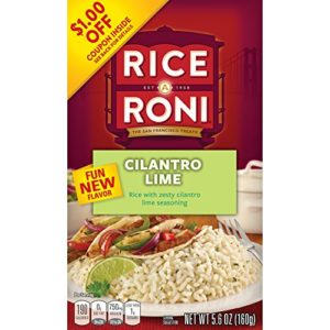 Rice-A-Roni Rice, Cilantro Lime, 5.6 Ounce