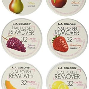 L.A. Colors Nail Polish Remover Pads 6 Fruit Scents (32 Pads of each)