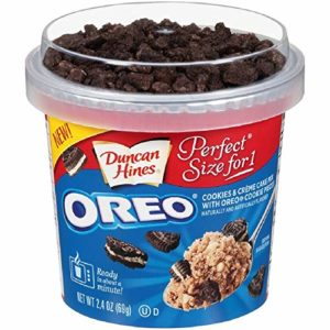 Duncan Hines Perfect Size for 1 Cake Mix, Ready in About a Minute, Oreo Cookies & Crème, 2.4 Ounce (Pack of 12)