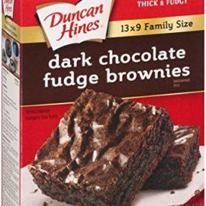 Duncan Hines Brownie Mix, Dark Chocolate Fudge, 18.2 Ounce (Pack of 6)