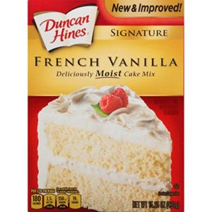 Duncan Hines Signature Cake Mix, French Vanilla, 15.25 Ounce