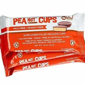No Whey - Large Chocolate PeaNot Butter Cups (3 Pack) - Peanut Free, Nut Free, Dairy Free, Soy Free, Vegan, Gluten Free