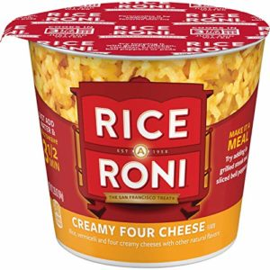 Rice a Roni Cups, Creamy Four Cheese, Individual Cup (Pack of 12 Cups)