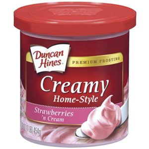 Duncan Hines Creamy Home-Style Frosting, Strawberry Cream, 16 oz