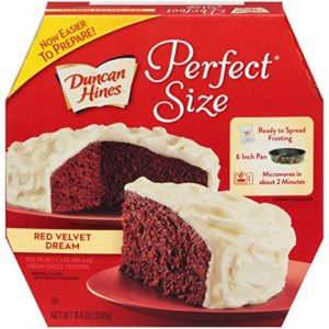 Duncan Hines Perfect Size Red Velvet Dream Cake & Frosting Mix, 8.4 oz