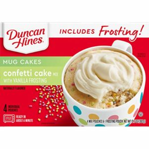 Duncan Hines Mug Cakes, Confetti Cake and Frosting