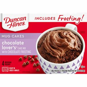 Duncan Hines Mug Cakes, Chocolate Lovers Cake and Frosting