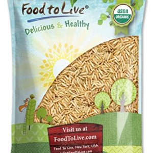 Organic Brown Basmati Rice, 5 Pounds - Raw, Long Grain, Non-GMO, Kosher, Bulk