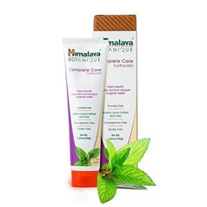 Himalaya Complete Care Toothpaste - Simply Spearmint 5.29 oz/150 gm (1 Pack) Natural, Fluoride-Free & SLS Free