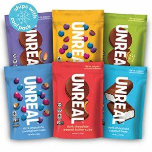 UNREAL Complete Vegan Variety Pack   Less Sugar, Fair Trade, Non-GMO   6 Bags