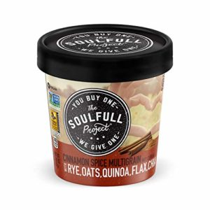 The Soulfull Project Instant Oatmeal Cups, Cinnamon Spice Multigrain, 2.01 Ounce (Pack of 6), Non GMO, Vegan