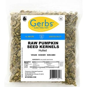 Gerbs Raw Pumpkin Seed Kernels, 1 LB. - Top 14 Food Allergy Free & NON GMO - Vegan, Keto Safe & Kosher - Premium Quality Grown in Mexico