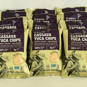 Platayuc Nature's Brand Yuca-Cassava chips lightly salted - Kosher - Gluten free - NON GMO - Vegan - 100% Natural - 0g Trans Fat - (Pack of 12)